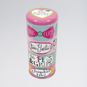 Rachel Ellen Stacking Tins Hair Accessories