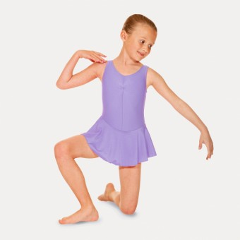 Roch Valley Sleeveless Skirted Leotard (Lilac)