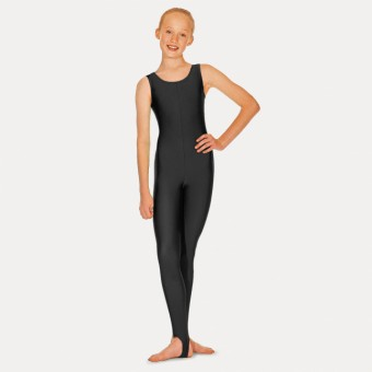Roch Valley Nylon Lycra Sleeveless Stirrup Catsuit (Black)