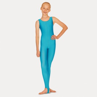 Roch Valley Nylon Lycra Sleeveless Stirrup Catsuit (Kingfisher)