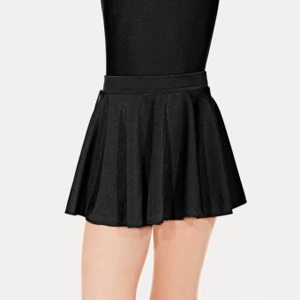 Roch Valley Nylon Lycra Circular Short Skirt (Black)