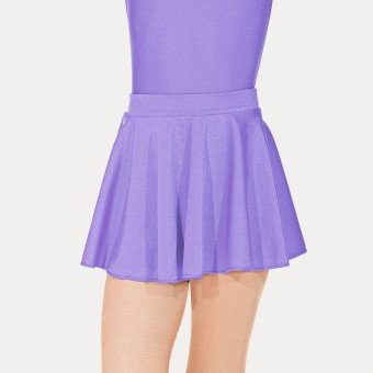 Roch Valley Nylon Lycra Circular Short Skirt (Lilac)