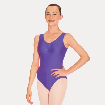 Roch Valley Sheree Sleeveless Ruched Leotard (Purple)