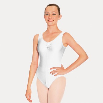 Roch Valley Sheree Sleeveless Ruched Leotard (White)