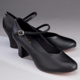 """So Danca Character/Stage Shoe 2"""" Heel (Black)"""