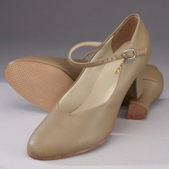 "So Danca Character/Stage Shoe (2"" Heel) (Tan)"