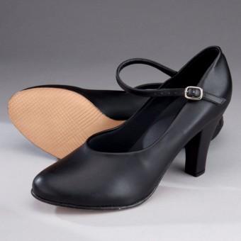 """So Danca Character/Stage Shoe 3"""" Heel (Black)"""