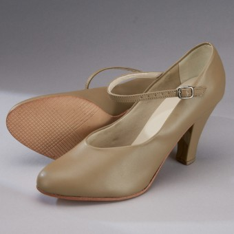 "So Danca Character/Stage Shoe (3"" Heel) (Tan)"
