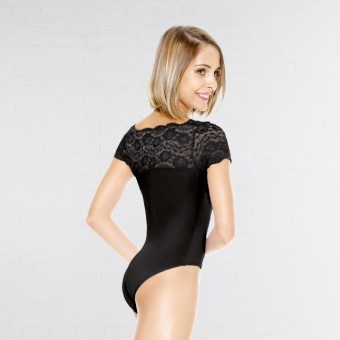 So Danca Top Laced Leotard (Black)