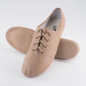 So Danca Rubber Split Sole Leather Jazz Shoes (Caramel)