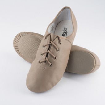 So Danca Split Sole Rubber Jazz Shoe (Tan)
