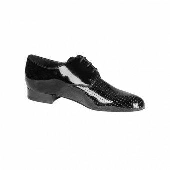 DSI Gibson Perforated Ballroom Shoe (Black Patent)