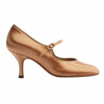 Supadance Round Toe Court Satin Shoe (Flesh)