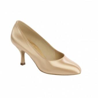Supadance Round Toe Satin Court Shoe (Flesh)
