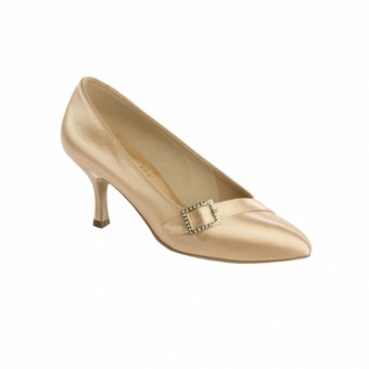 Supadance Pointed Toe Court Satin Shoe (Flesh)
