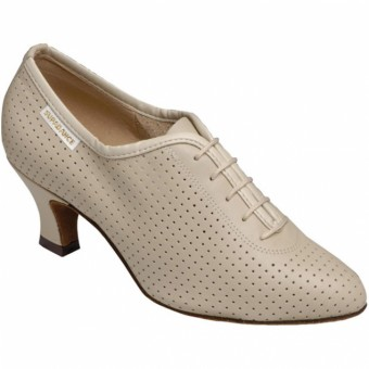Supadance Teaching And Practice Leather Shoe (Beige)