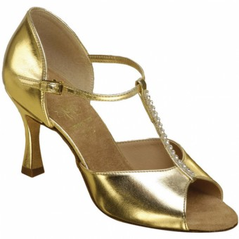 Supadance Classic Latin T-Bar Coag Sandal (Regular Width) (Gold)