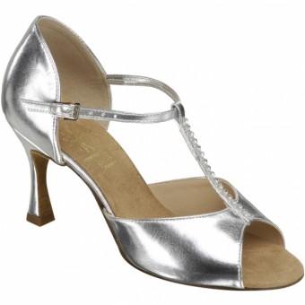 Supadance Classic Latin T-Bar Coag Sandal (Regular Width) (Silver)