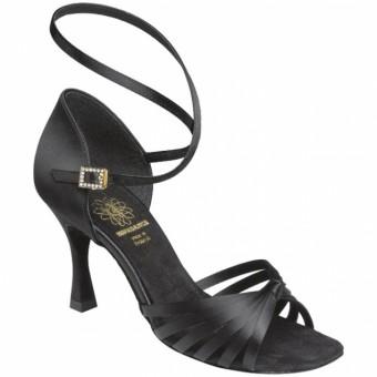 Supadance Latin Satin Sandal (Black)
