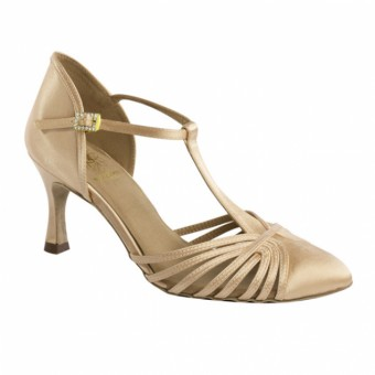 Supadance Closed toe social T-Bar Satin sandal