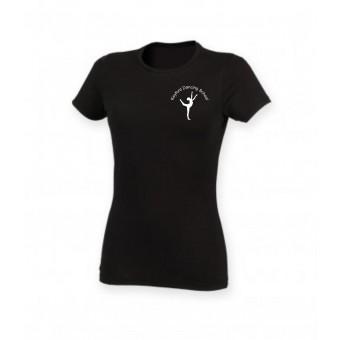 PP *#261105#* Skinnifit The Feel Good Stretch T-Shirt (Black) with Avon and Keyford Dance Logo - KEYFORD LOGO