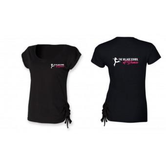 PP *#121006#* Skinnfit Slounge T-Shirt (Black) with The Village School Of Dance Logo