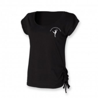 PP *#261106#* Skinnfit Slounge T-Shirt (Black) with Avon and Keyford Dance Logo - KEYFORD LOGO