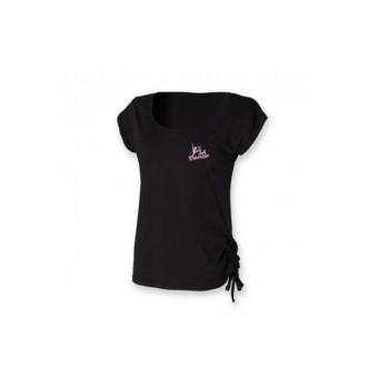 PP *#07093#* Skinnfit Slounge T-Shirt (Black) with S A Dance Logo - pink logo