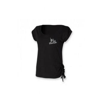 PP *#07094#* Skinnfit Slounge T-Shirt (Black) with S A Dance Logo - silver logo