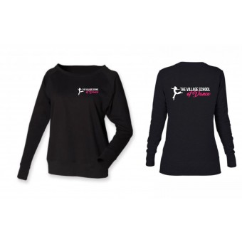 PP *#121007#* Skinni Fit Slounge Sweat Shirt (Black) with The Village School Of Dance Logo