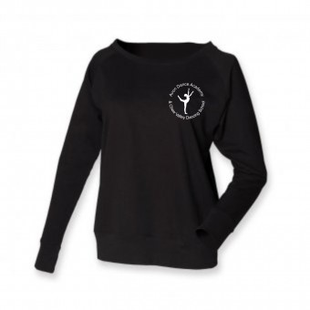 PP *#281160#* Skinni Fit Slounge Sweat Shirt (Black) with Avon and Keyford Dance Logo - AVON and CHEW