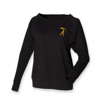 Skinni Fit Slounge Sweat (Black) with Robyn Academy Logo