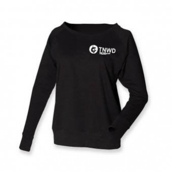 Skinni Fit Slounge Sweat Shirt (Black) with TNWD Performing Arts Logo