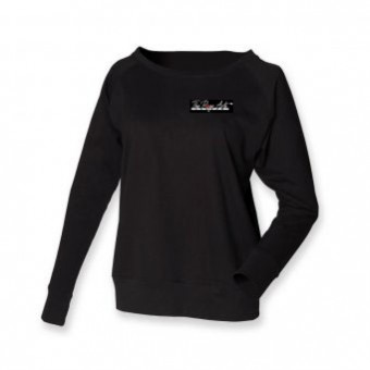 Skinni Fit Slounge Sweat Shirt (Black) with The Rose Arts London Logo
