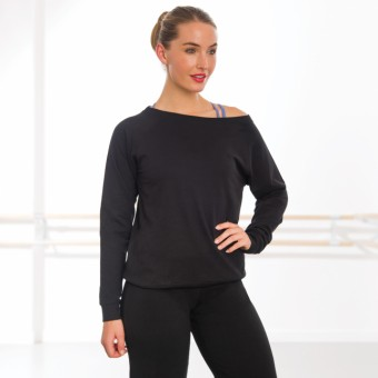 Skinni Fit Slounge Sweat Shirt (Black)