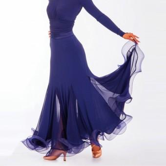 DSI Marissa Ballroom Skirt (Navy Blue)