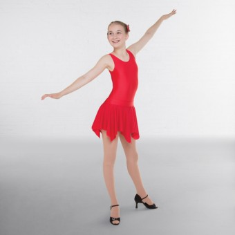 1st Position Practice Ballroom Skirt (Red)