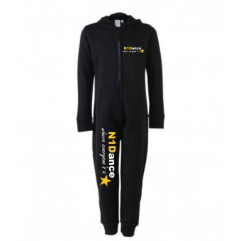 PP *#041045#* Skinni Fit Unisex All In One (Black) with N1 Dance Logo