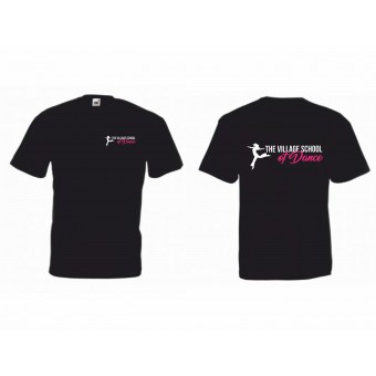 PP *#5235#* Fruit of the Loom Kids Value T-Shirt (Black) with The Village School Of Dance Logo