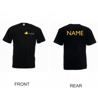 PP *#4643613134#* Fruit of the Loom Value T-Shirt (Black) with Duckegg Theatre Company Logo + name