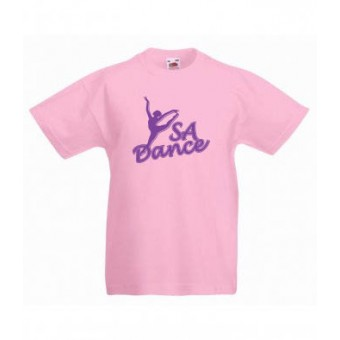 PP *#30081#* Fruit of the Loom Value T-Shirt (Light Pink) with S A Dance Logo