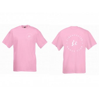 PP *#116#* Fruit of the Loom Kids Value T-Shirt (Light Pink) with Cirencester Dance Club Logo