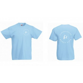 PP *#121#* Fruit of the Loom Kids Value T-Shirt (Sky Blue) with Cirencester Dance Club Logo