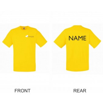 PP *#334435#* Fruit of the Loom Kids Value T-Shirt (Yellow) with Duckegg Theatre Company Logo + name