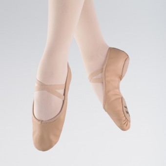 1st Position Pink Leather Split Sole Ballet Shoes
