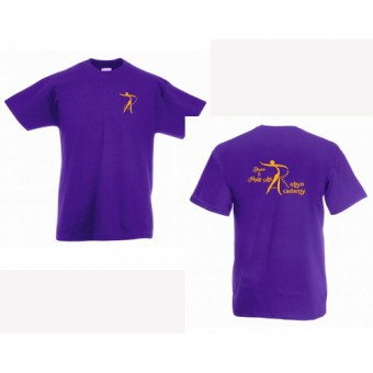 Fruit of the Loom Value T-Shirt (Purple) with Robyn Academy Logo