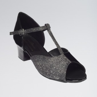 Olivia Ballroom Duo Combination Shoe with a T-bar and Slip-buckle Cuban Heel