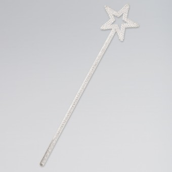 White Glitter Star Wand