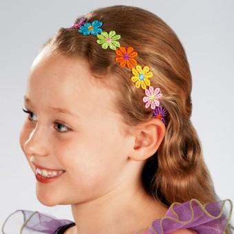 Cinta elástica para el pelo con flores multicolor