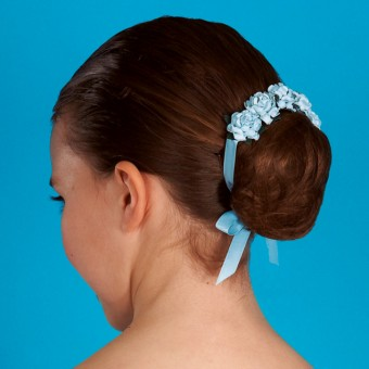 Floral Hair Blossom - Pale Blue